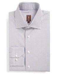 Robert Talbott | Brown Trim Fit Check Dress Shirt for Men | Lyst