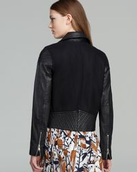 Marc By Marc Jacobs Black Jacket Karlie Leather and Wool