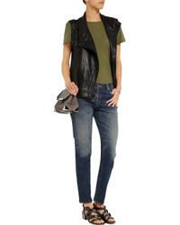 R13 - Blue Relaxed Low-rise Skinny Jeans - Lyst