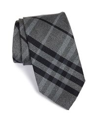 Burberry | Gray 'clinton' Woven Silk Tie for Men | Lyst