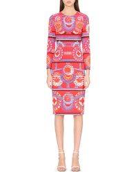 Peter Pilotto | Red Start Abstract-print Crepe Dress | Lyst