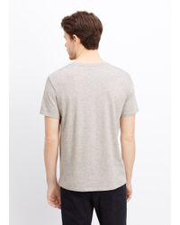 VINCE | Gray Favorite Jersey V-neck Tee for Men | Lyst