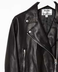 Acne Studios Black Lightweight Leather Jacket
