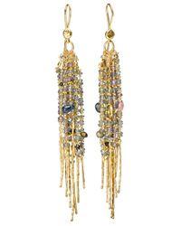 Natasha Collis - Multicolor 18kt Yellow Gold Fringe 'treasure' Earrings - Lyst