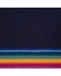 Paul Smith - Blue Men's Navy 'rainbow-stripe' Edge Wool Scarf for Men - Lyst