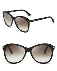Prada - Black Oversized Sunglasses - Lyst