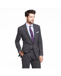 J.Crew - Gray Ludlow Two-button Suit Jacket with Double-vented Back in Birds-eye Tweed for Men - Lyst