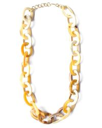Soko | Metallic Horn Chain Link Necklace - Natural | Lyst
