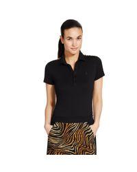 Ralph Lauren Golf Black Tailored Golf-fit Pima Polo