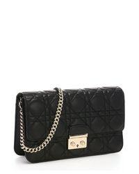 Dior - Black Cannage Leather 'miss Dior' Flap Front Shoulder Bag - Lyst