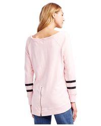 Jessica Simpson - Pink Maternity Floral-print High-low Sweatshirt - Lyst