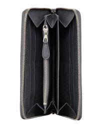 Balenciaga - Gray Giant Nickel Continental Zip Wallet for Men - Lyst