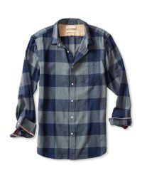 Banana Republic | Blue Heritage Check Flannel Shirt for Men | Lyst