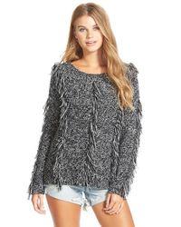 Volcom | Gray 'treasure This' Fringe Sweater | Lyst