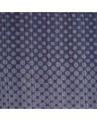 Paul Smith Men's Sky Blue Multi-stripe Faded Polka Dot Scarf for men
