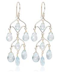 Dinny Hall - Metallic Silver Blue Topaz Chandelier Earrings - Lyst