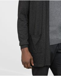 Zara | Gray Open Viscose Cardigan for Men | Lyst