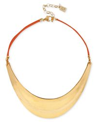 Robert Lee Morris | Metallic Gold-Tone Sculpted Collar Necklace | Lyst