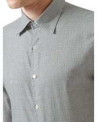 Aquascutum Gray Tobias Check Shirt for men