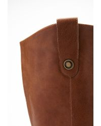 Forever 21 - Brown Plus Size Knee-high Faux Leather Boots (wide) - Lyst