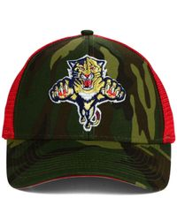 Reebok - Green Florida Panthers Camo Trucker Cap for Men - Lyst