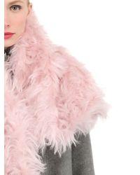Awake Pink Mohair Wool Scarf