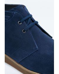 Fred Perry | Blue Southall Navy Suede Mid-boots for Men | Lyst