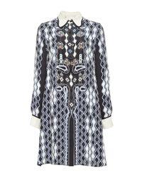 Peter Pilotto - Black Printed Silk Ace Shirtdress - Lyst