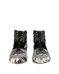 Balenciaga   Black Marble-Effect High-Top Trainers for Men   Lyst
