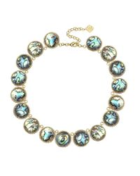 Kendra Scott | Blue Adriana Abalone Collar Necklace | Lyst