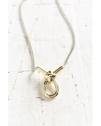 Giles & Brother | Metallic X Knot Pendant Necklace | Lyst