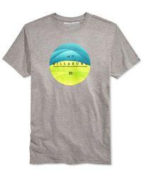Billabong | Gray Pulse Graphic-print T-shirt for Men | Lyst