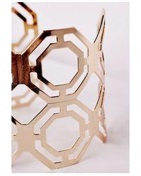 Missguided - Metallic Cut Out Cuff Gold - Lyst