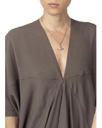 Vivienne Westwood Metallic Mayfair Bas Relief Swarovski Crystal Orb Necklace