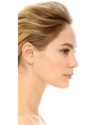 Blanca Monros Gomez Metallic Small Wavy Stud Earrings