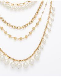 Ann Taylor - Pink Pearlized Crystal Sunburst Statement Necklace - Lyst