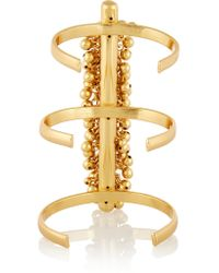 Paula Mendoza | Metallic Fishbone Of Grapes Gold-plated Cuff | Lyst