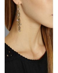 Isabel Marant - Metallic Gold-Tone Crystal Drop Earrings - Lyst
