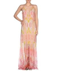 Roberto Cavalli - Pink Long Dress - Lyst