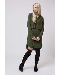 TOPSHOP | Green Hybrid Shirt-dress | Lyst