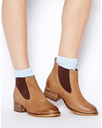 ASOS Brown Aftershock Chelsea Leather Boots