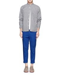 Beams Plus Blue Stretch Chinos for men