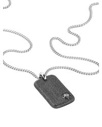 DIESEL - Gray Necklace Dx0894 for Men - Lyst