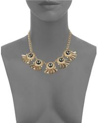 Lord & Taylor | Metallic Vintage-inspired Fan Statement Necklace | Lyst
