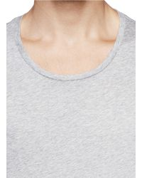 Acne Studios - Gray Round Neck Jersey T-shirt for Men - Lyst