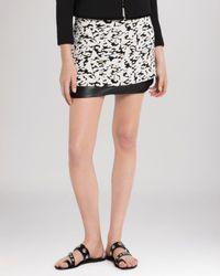 Sandro Black Skirt - Janique Leather Hem