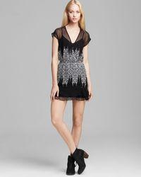 Twelfth Street Cynthia Vincent Black Mini Dress Ruffle Silk