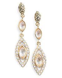 Judith Jack Metallic Navette Linear Drop Earrings