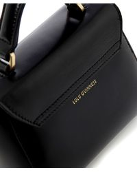 Lulu Guinness - Black Polished Leather Mini Izzy Bag - Lyst