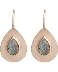 Irene Neuwirth - Pink Labradorite & Rose Gold Drop Earrings - Lyst